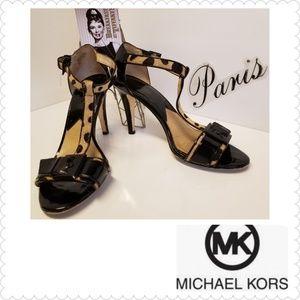 MICHAEL KORS Calf- hair Leopard Heels Sandals
